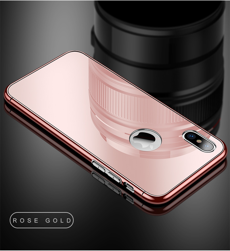 CAFELE Luxury Case For iPhone X 10 plating frame Tempered 3 in 1 Glass Ultra Thin color Glass Back Cover For iPhones X 10 Cases (15)