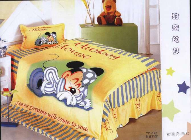 Dessin Anime De Disney Lit Draps 3d Mickey Mouse Couette Ensemble