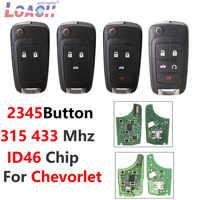 Llave de control remoto para Chevrolet Cruze Malibu Aveo chispa navegar 315MHZ 433MHZ 2 3 4 5 button 42010-2014 HU100 hoja Chip transpondedor ID46
