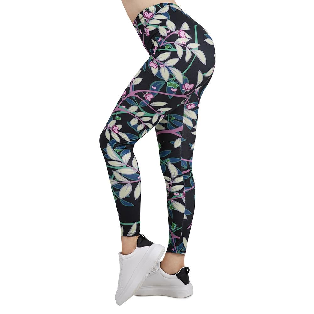 Women Sport Leggings Tree Branch Dark Printing Leggins Slim High Elasticity Legins Popular Fitness Leggings Female Pants