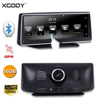 XGODY 8 Inch Touch Screen Car DVR GPS Navigation Recorder Android 5.0 16GB ROM HD 1080P WiFi Dash Cam Supprot Rear View Camera