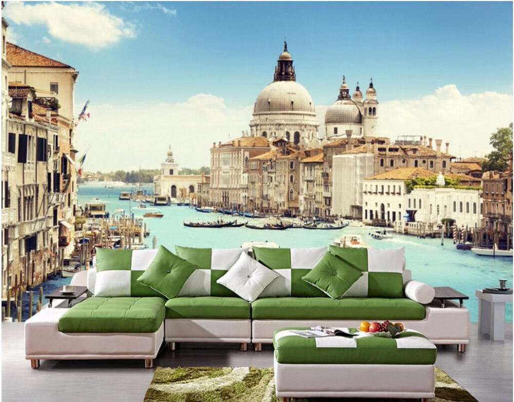 3d wallpaper custom mural photo Italy Venice water city room decoration painting 3d wall murals wall paper for walls 3 d custom photo 3d wall murals wallpaper mountain waterfalls water decor painting picture wallpapers for walls 3 d living room