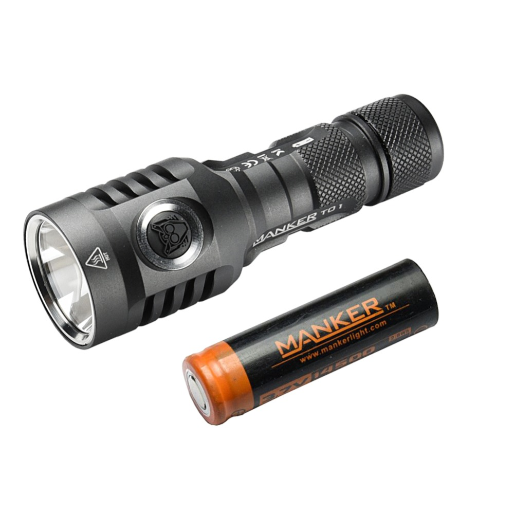 Манкер T01 II 900 люмен Cree XP-L Здравствуйте светодио дный 14500 фонарик карманный Метатель Факел + 750 мАч 14500 Перезаряжаемые Батарея включены
