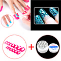 26 Pcs/ Pack 10 Size Nail Gel Model Clip Overflow Prevention Tool + UV Clear Nail Art Manicure Tips Glue