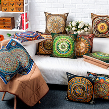 Chinese color national storm Simian pillow 53x53cm cushions linen sofa pillow cover without core between the model windows soft