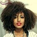 Virgem peruano Afro Crespo Peruca de Cabelo Curto Encaracolado 150 Densidade 100% Cabelo Humano Glueless Kinky Curly Perucas Para As Mulheres Negras