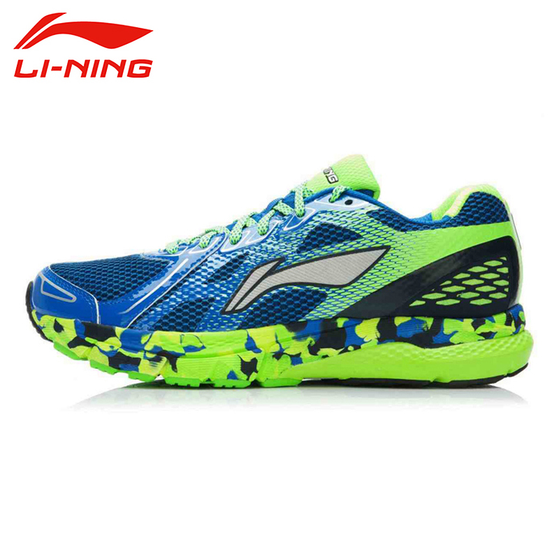 LI-NING Outdoor Men Running Shoes Breathable Refllective Cushioning Lace-Up Light Weight Sneakers Sport Shoes ARHK081 XYP295