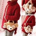 Кэндис го! милый мультфильм плюшевые игрушки сумки пару даффи медведь shelliemay медведь crossbody мешок любовника подарок на день рождения 1 шт.