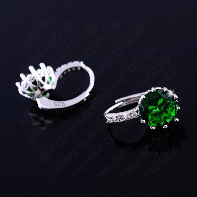 Women Earrings Genuine 925 Sterling Silver AAA Cubic Zirconia 2