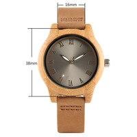 Reloj de madera bambú para mujer combinación metal 3