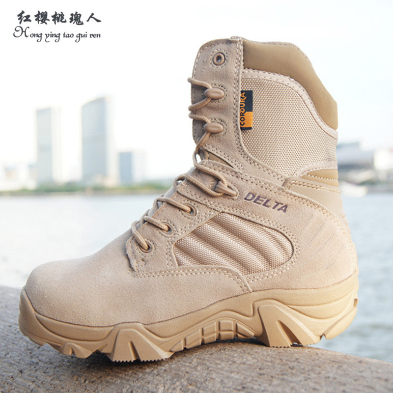 Winter/autumn High Quality Brand Men Military Leather Boots Special Forces Tactical Desert Combat Boats Outdoor Shoes Snow Boots brand fishing waders security staff special forces shoes ski bodyguard women trekking tactical desert climb combat land boots