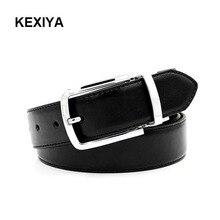 KEXIYA2017 men belt luxury high-end fashion accessories metal zinc alloy buckle reversible rotation buckle leather fashion belt