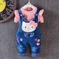 Anlencool Весной высокое качество нового девушки KT cat твердые Denim Биб костюм взрыв моделей продаже детская одежда бутик