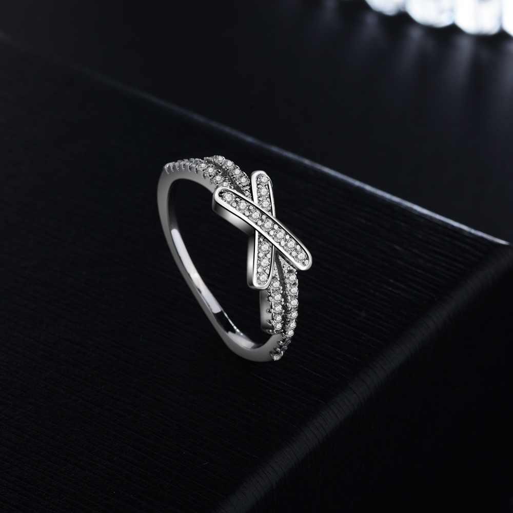 S925 стерлингового серебра Цвет Роскошные Кольца Женщины Обручальное кольцо