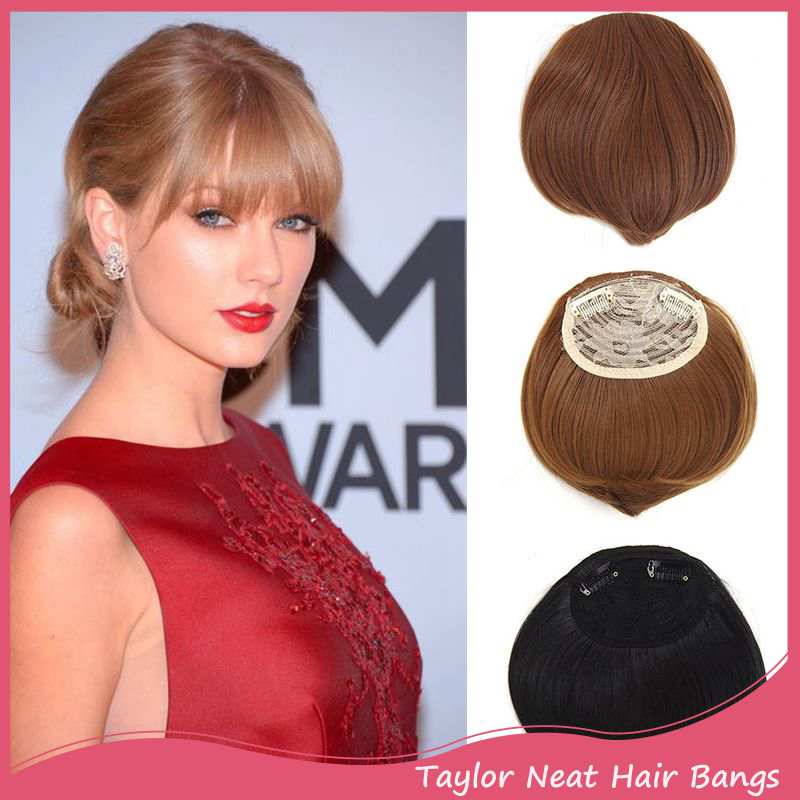 Apply Hair Clip In Bangs Fake Hair Extension Hairpieces False Hair