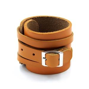 Image 3 - Muñequera de cuero de vaca para levantamiento de pesas, Protector de muñeca para Crossfit, con prensa de barra, pulsera para gimnasio, 1 par