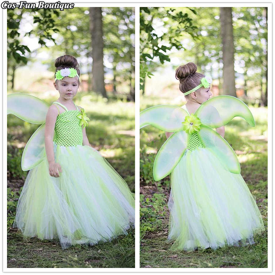 514544d7de94 Detail Feedback Questions about Spring Garden Fairy Tutu Dress Theme  Pageant Gown Green St.Patrick's Day Girl Dress Up Fresh Baby Girl Birthday  Party Dress ...