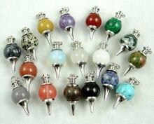Pietra naturale lapis occhio di tigre Opal cristallo di Quarzo di fascino Pendenti con gemme e perle per Gioielli fai da te fare collane di Turchesi Accessories10pcs