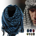 Militar À Prova de Vento de Inverno Homens Cachecol Hijab Muçulmano Shemagh Árabe Keffiyeh Cachecóis Xale Tático 100% Algodão Fino