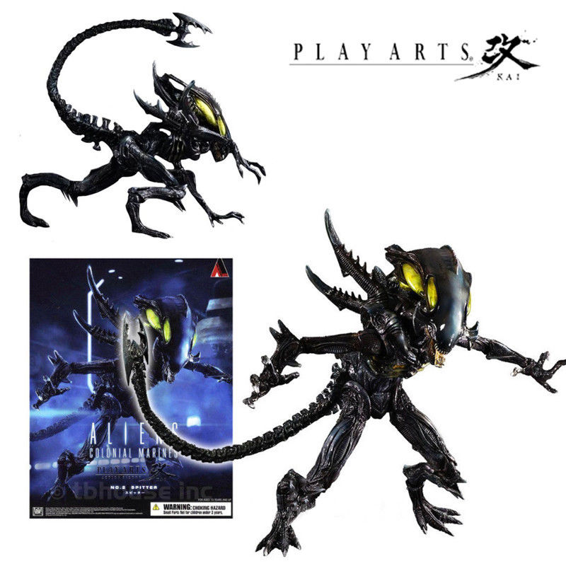 PLAY ARTS KAI SPITTER ALIENS VS PREDATOR COLONIAL MARINES ACTION FIGURES KO TOY Anime Figure Collectible Model Toy elsadou toy story 3 aliens action figures 22cm action