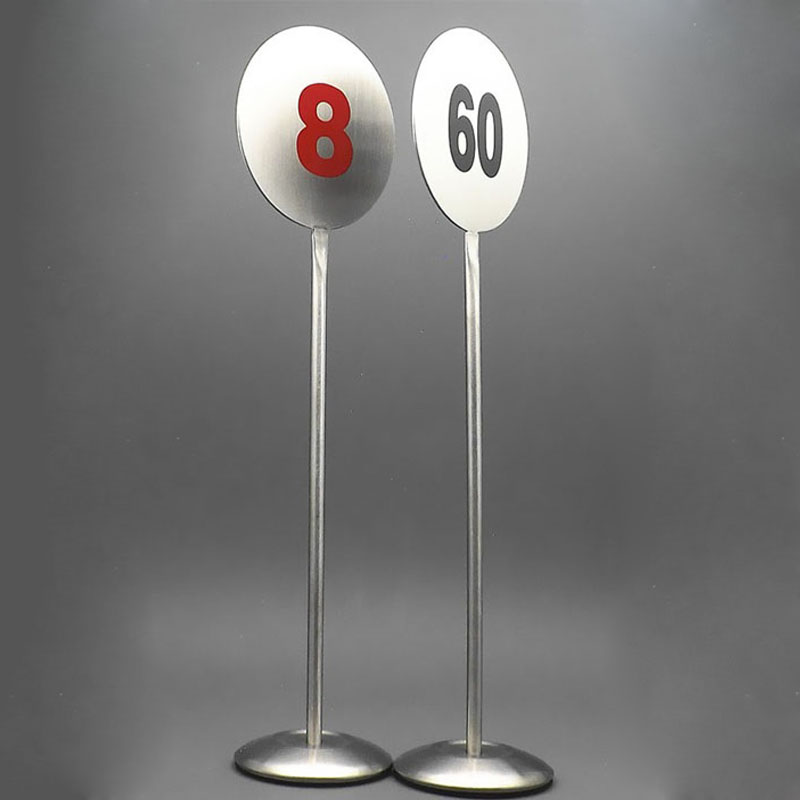 50pcs Stainless Steel Restaurant Table Number Cards Digital Card Desk Seat Card Display Holder Party Supplies ZA6224