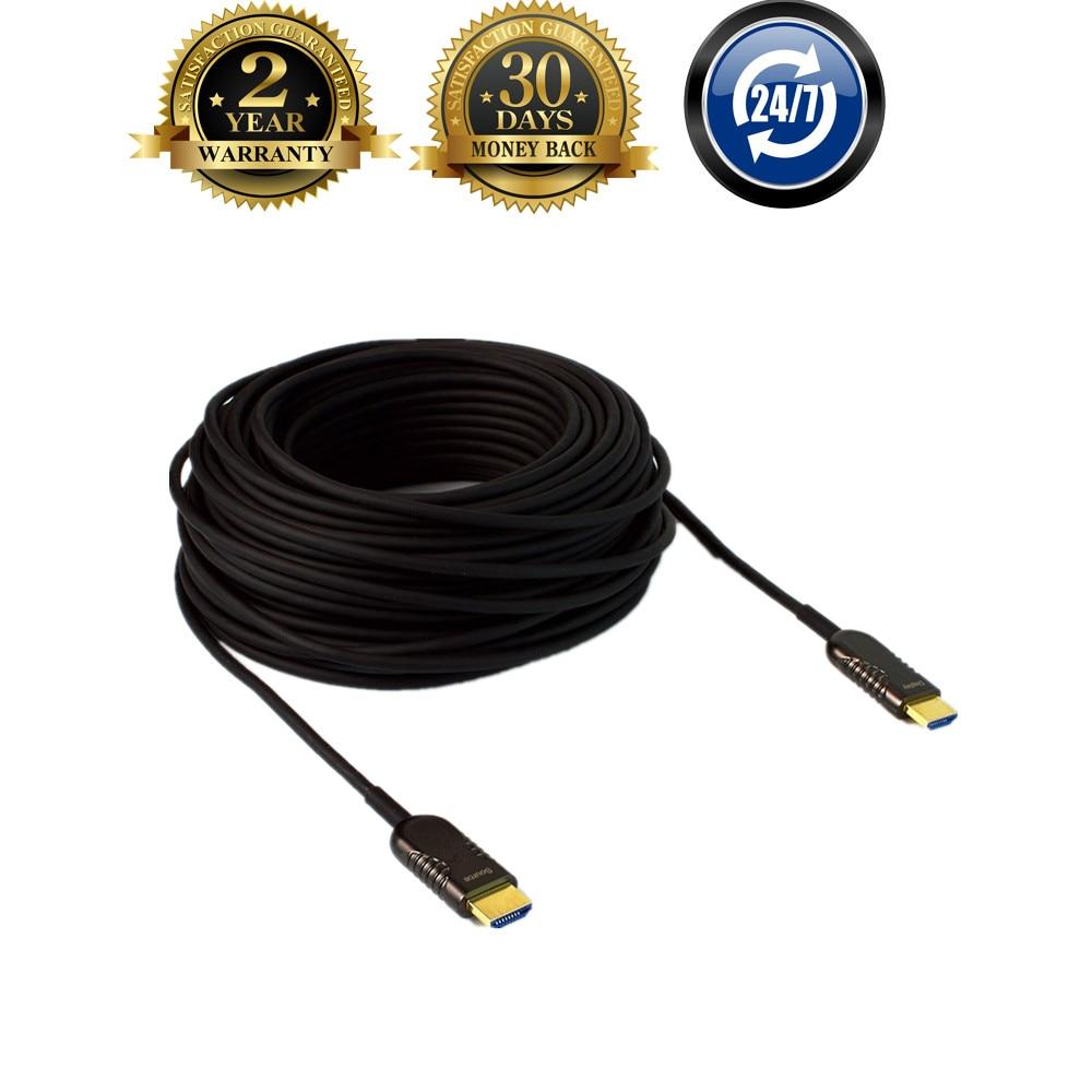 UHD 4Kx2K @ 60Hz HDMI 2.0 et HDCP 2.2 30 m ~ 100 m HDMI Fiber optique AOC HDR câble d'extension pour HD Apple TV, PS3, LCD et projecteur pour ordinateur portable