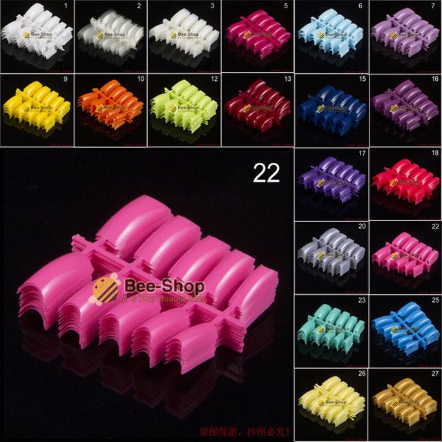 100pcs/pack Beauty  False Acrylic Nail Tips 29 Colors
