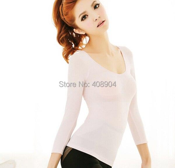 Женская майка для похудения, облегающее нижнее белье, Корректирующее белье с длинными рукавами, 4 цвета, 100 шт