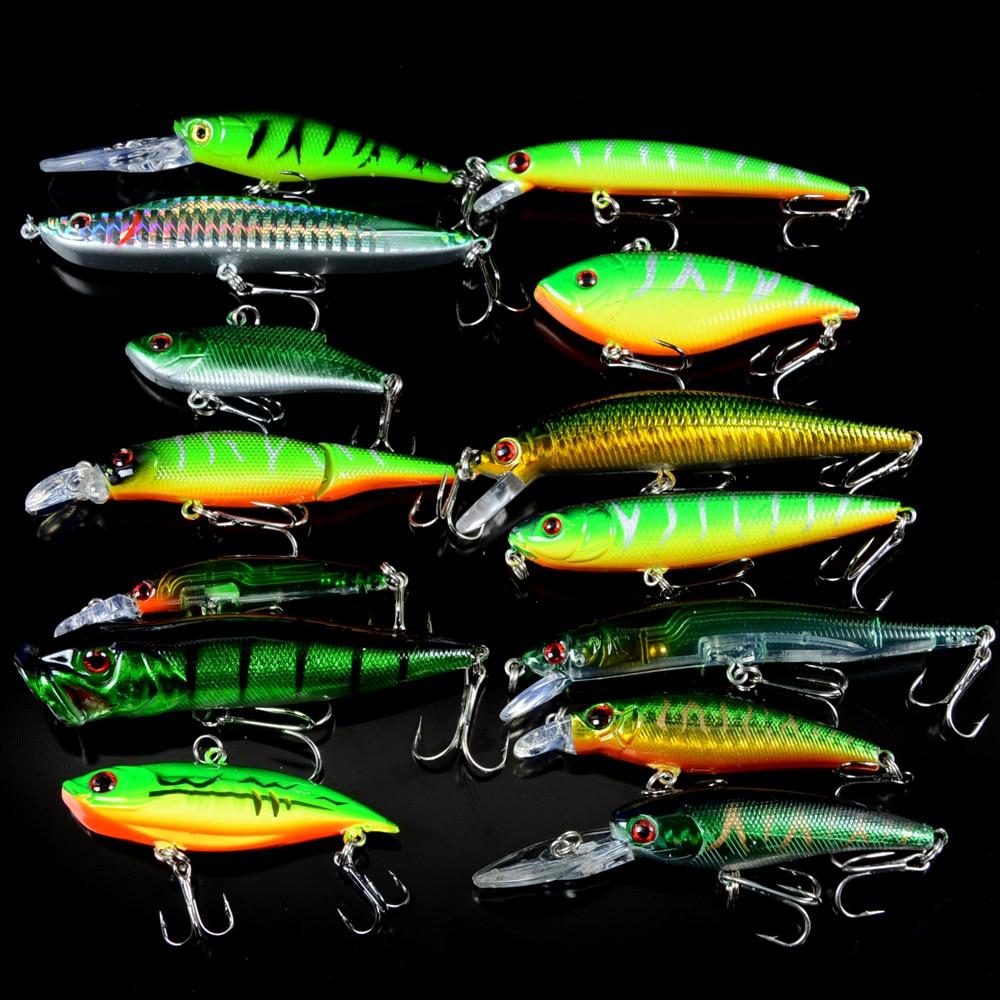 New Set Mixed 14pcs/Lot Good Quality  Fishing Lure 14 Models  Crankbait Bait Artificial Make Fish Baits Wobbler Fishing Tackle