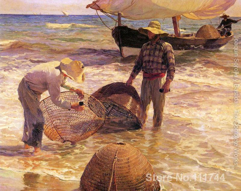 Scènes de plage valencien pêcheur par Joaquin Sorolla y Bastida peintures pour la décoration de la maison de haute qualité à la main