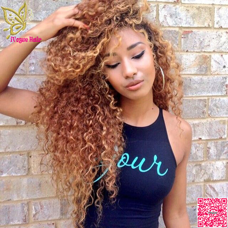 Honey Blonde Virgin Brazilian Full Lace Human Hair Wigs