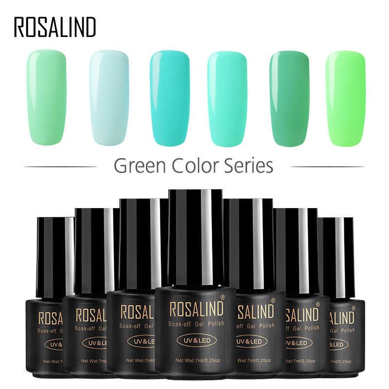 ROSALIND 7 ml Nagellak Groene kleur Serie Nail Gel Polish Vernis Semi Permanente Nail Art Gel Nail Vernissen