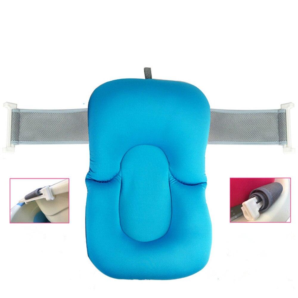 Non Slip Baby Bathing Mat Foldable Newborn Baby Security Bath Seat ...