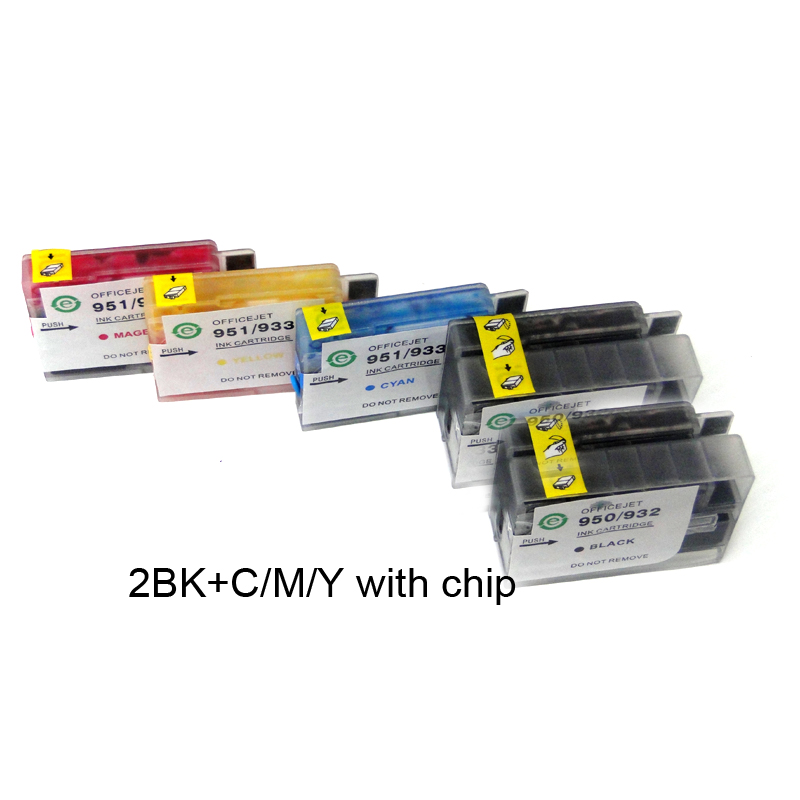 YOTAT 2BK+C/M/Y Full ink Refillable ink cartridge for HP932 HP933 HP 932 HP 933 for HP Officejet 6100 6600 6700 7110 стоимость
