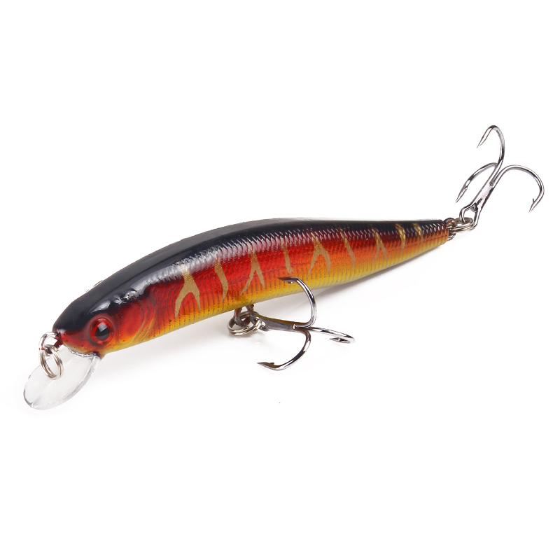 HAODIAOZHE Minnow Fishing Lures Wobblers 10cm 8 3g 3D Eyes artificial Hard Quality Professional CrankBbaits 6 Hook Pesca YU42 in Fishing Lures from Sports Entertainment