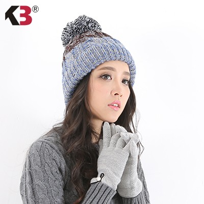 Women\'s Winter Beanie Warm Fleece Lining Thick Slouchy Cable Knit Skull Hat Ski Cap (1)