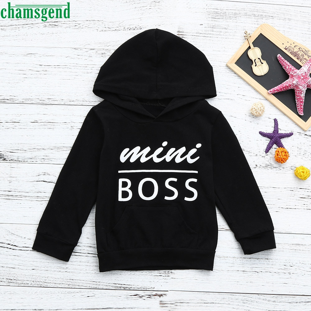 все цены на CHANSGEND Toddler Baby Boys Girls Hooded Sweatshirts Infant Letter Blouse Hoodies Tops JAN30 P30 drop shipping онлайн
