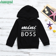 CHANSGEND Kleinkind Baby Jungen Mädchen Mit Kapuze Sweatshirts Infant Brief Bluse Hoodies Tops JAN30 P30 drop verschiffen(China)