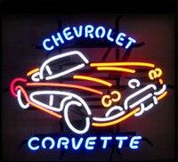 Chevrolet Corvette verre néon signe barre de bière