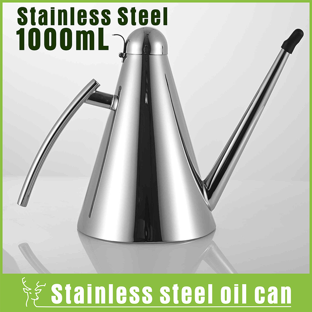 Kitchen Storage Pot Stainless Steel Oil Cans Leak Proof Oil Bottle Cone  Oiler Oil Pourer