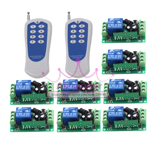 Free Shipping 12V 10A Digital Remote Control Switch/ Home Light Switch Smart Control Learning Code