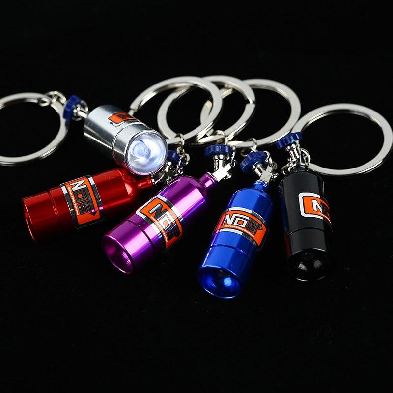 LES Led Lampe Mini Nitrous Oxide Bouteille Porte-clés Porte-clés Porte-clés Stash Pill Box De Stockage Turbo w/Cellulaire Batterie ** 1 PCS **