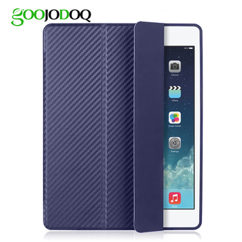 GOOJODOQ Cover for iPad Mini 4 Case Silicone Soft Back for Apple iPad Mini Case 7.9 inch Carbon Fiber Shockproof Auto Sleep/Wake