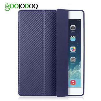 GOOJODOQ Cover for iPad Mini 4 Case Silicone Soft Back for Apple iPad Mini Case 7.9 inch Carbon Fiber Shockproof Auto Sleep/Wake