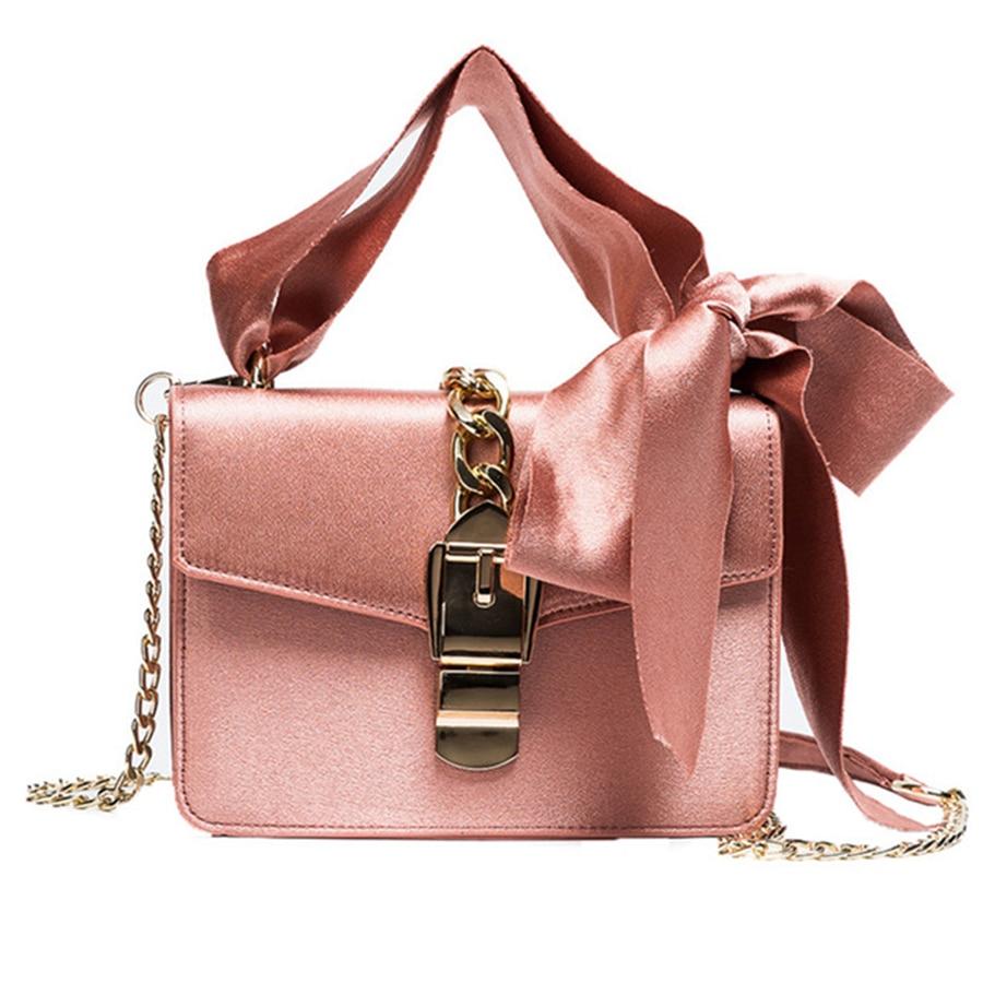 2018 Luxury Messenger Bags Women Fashion Chains Handbags Bowknot Shoulder Bag Ladies Brand Designer Crossbody Bolsa Feminina zooler ladies women messenger bag high quality brand women bag chain zipper crossbody shoulder bags bolsa feminina c118
