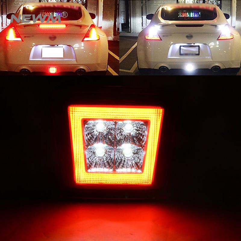 Rear Fog Light LED Assembly For 2009 up Nissan 370Z Integrated Rear Fog Light Brake Light