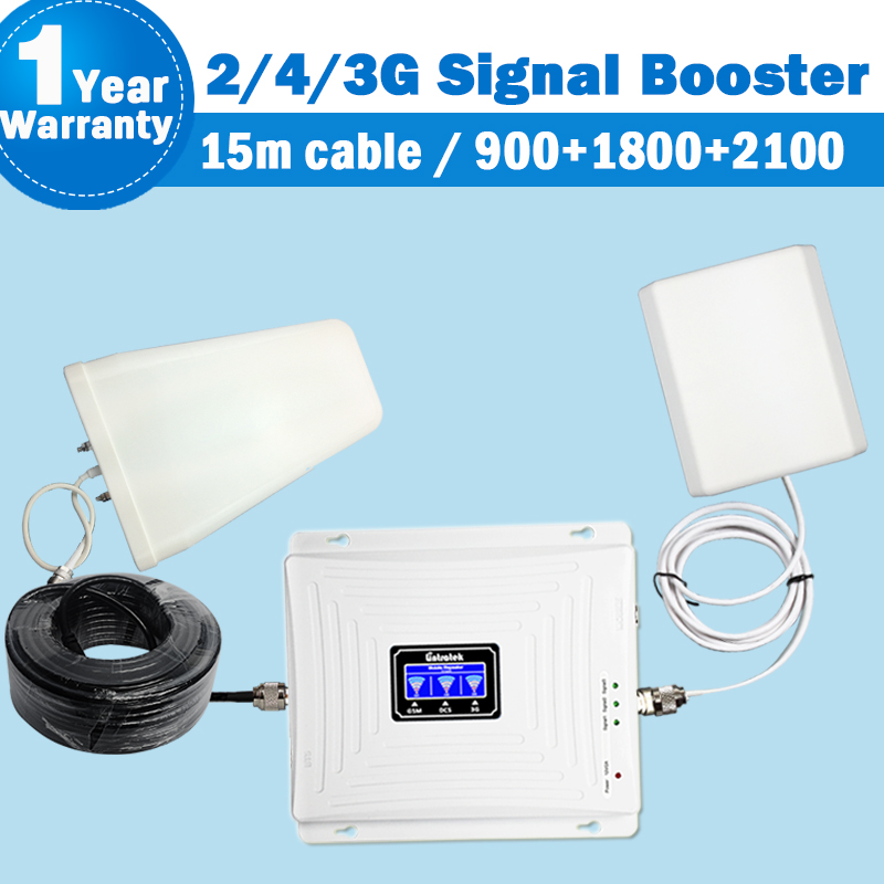 Lintratek 2g 3g 4g gsm Repeater 900 DCS/LTE 1800 repetidor 4g Band 3 WCDMA/UMTS 2100 Band 1 cellular signal booster Amplifier 39
