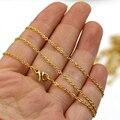 """45 cm (18 """") Chapeamento de Ouro de Aço Inoxidável Cadeia Colar de Cadeia Curta Colares Para As Mulheres 20 pçs/lote"""