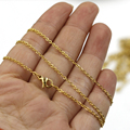 """45cm (18"""")Gold Plating Stainless Steel Chain Necklace Short Chain Necklaces For Women 20pcs/lot"""