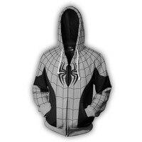 2019 New Armored spider man Hooded Hot Long Sleeve Zipper Men superman Masked Hoodie Cosplay Sweatshirt Jacket